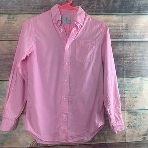 Boys Sz 10/12 Pink Class Club Button Down Shirt